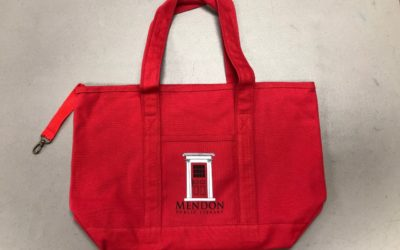 Friends Offer New Red Tote Bags for Sale