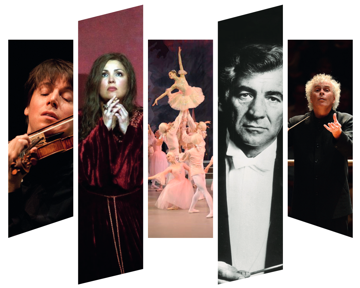 5 images of different classical musicians