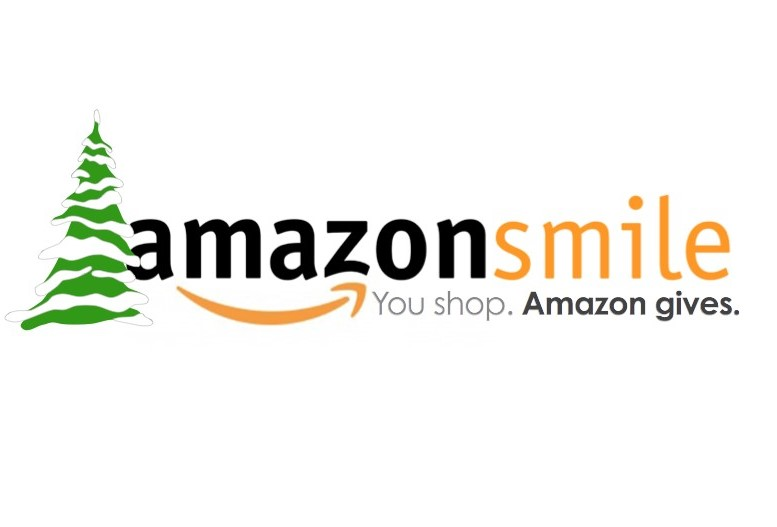 evergreen next to Amazon Smile logo