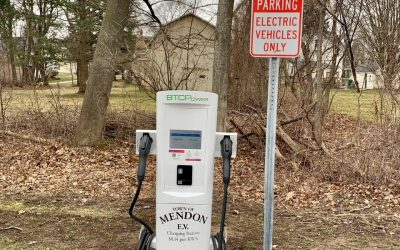 Town of Mendon Installs Electric Car Charging Station at Mendon Public Library